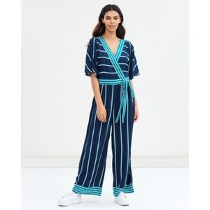Cotton On Pants - NWOT Cotton On striped kimono sleeve jumpsuit M
